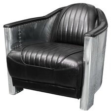 Melbourne Leather and Metal Club Chair