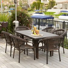 Norwich 7 Piece Outdoor Dining Set (Set of 7)