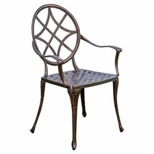 Brunswick Cast Aluminum Copper Outdoor Dining Chair (Set of 2)