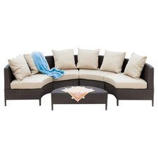 Hanna 5 Piece Deep Seating Group with Cushions