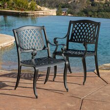 Sydney Sand Cast Aluminum Outdoor Chair (Set of 2)