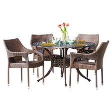 Leila 5 Piece Outdoor Dining Set
