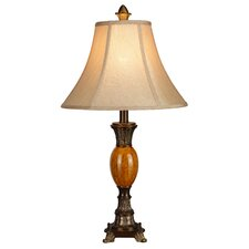 """LMP Metal and Polyresin 25"""" H Table Lamp with Bell Shade"""