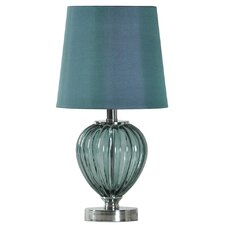 "Blue Glass 18.75"" H Table Lamp"
