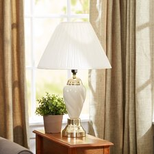 """Ceramic Table 27"""" H Lamp with Empire Shade"""