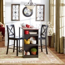 Counter-Height 3 Piece Pub Table Set