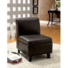 Faux Leather Slipper Chair