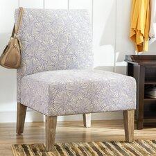 Upholstered Floral Slipper Chair
