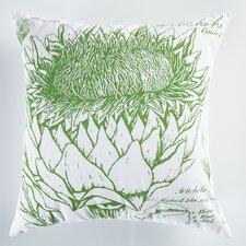 Uruli Artichoke Cotton Throw Pillow