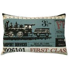 Ticket Cotton Lumbar Pillow