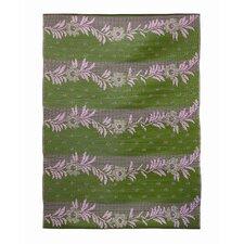 Vines Claret Purple / Green Outdoor Rug