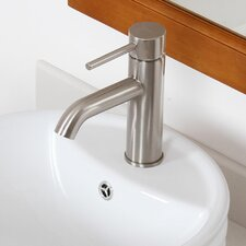 Single Handle Bathroom Sink Faucet with Horizontal Dip Tip Spout