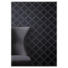 "Odyssey  33' x 20.5"" Harlequin Foiled Wallpaper"