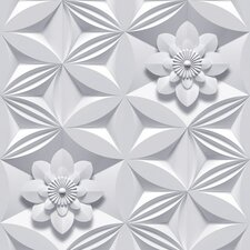 Illusions Flower 33' x 20'' Floral And Botanical Embossed Wallpaper