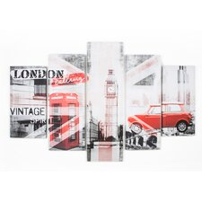 Spring 2015 Union Montage 5 Piece Vintage Advertisement on Wrapped Canvas Set