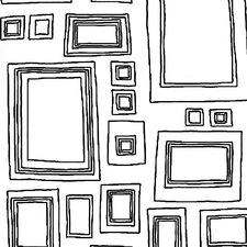"Label Frames 33' x 20.5"" Geometric Wallpaper"