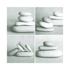 Pebbles Quad Canvas Blocks (Set of 4)