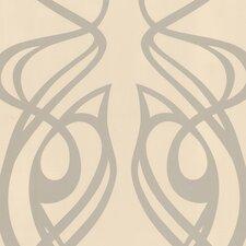 "Diva Oyster 33' x 20.5"" Geometric Foiled Wallpaper"