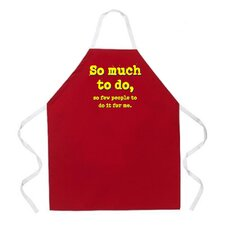 So Much to Do Apron