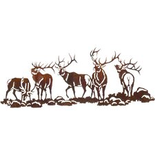 Boys Night Out Elk Scene Over the Door Wall Decor