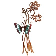 3D Butterfly and Flowers Wall Decor