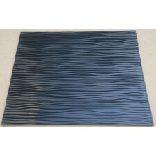 Dunes 3'' x 16'' Glass Mosaic Tile in Blue/Black