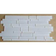 Studio Random Sized Glass Mosaic Tile in White