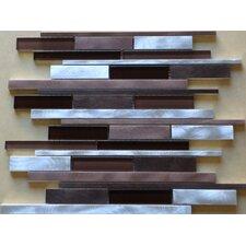 Urban 12'' x 12.25'' Glass Metal Look Tile in Multi
