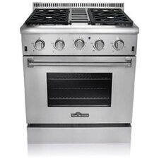 Hyxion 4.2 Cu. Ft. Gas Convection Range in Stainless Steel