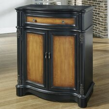 Timeless Classics 1 Drawer 2 Door Two Toned Accent Chest