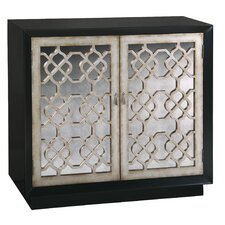 Antique Mirrored 2 Door Accent Cabinet