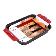 """11.4"""" Roaster Pan with Carving Set"""
