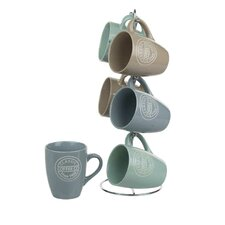 6 Piece Coffee Co Mug Set with Stand