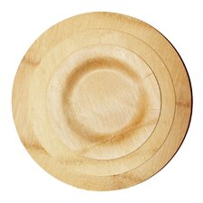 Bamboo Veneer Round Dinner Plate (100 Count)