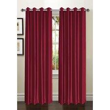 Jamie Faux Silk Extra Wide Single Curtain Panel
