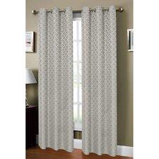 Sonata Woven Lattice Jacquard Grommet Curtain Panel (Set of 2)