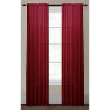 Diamond Sheer Voile Extra Wide Rod Pocket Single Curtain Panel