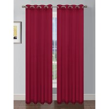 Sheer Solid Voile Grommet Extra Wide Single Curtain Panel