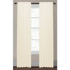 Sheer Elegance Textured Faux Linen Rod Pocket Curtain Panels (Set of 2)