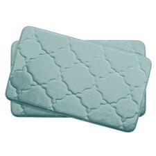 Dorothy Small 2 Piece Premium Micro Plush Memory Foam Bath Mat Set (Set of 2)