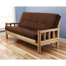 Lodge Suede Futon and Mattress