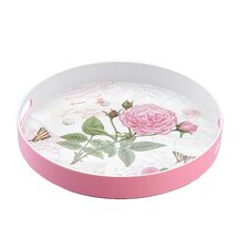 Rose Round Serving Tray