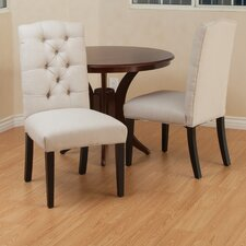 Tufted Linen Side Chair (Set of 2)