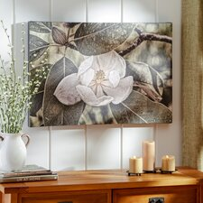 'White Magnolia' Wrapped Photographic Print on Canvas
