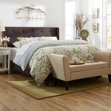 Wingback Queen Panel Bed in Stone