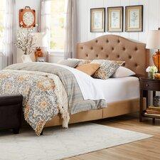 Camelback Queen Panel Bed in Latte