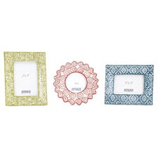 Lucenda 3 Piece Colorful Ceramic Frame Set