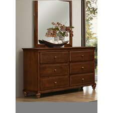 6 Drawer Dresser with Mirror by Simmons Casegoods