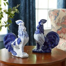 2-Piece Anson Rooster Figurine Set