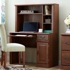 Bauman Computer Desk with Hutch